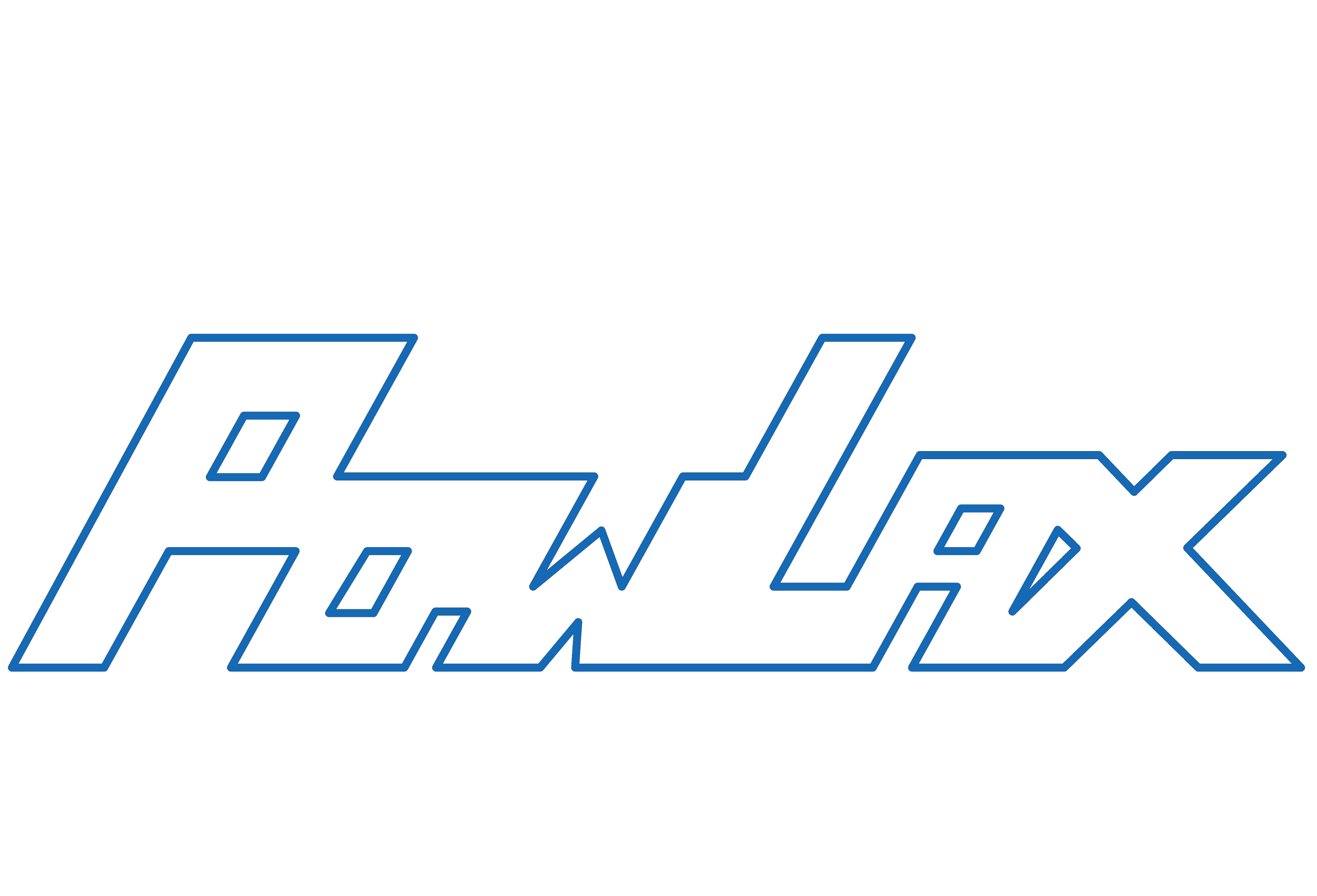 PowLax Text Logo - White and Blue